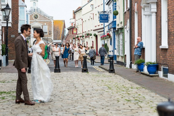Bride and groom in Poole