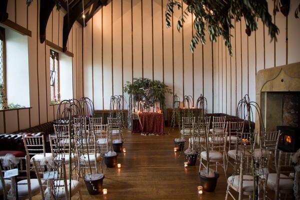 Wedding ceremony room at Bridwell wedding venue