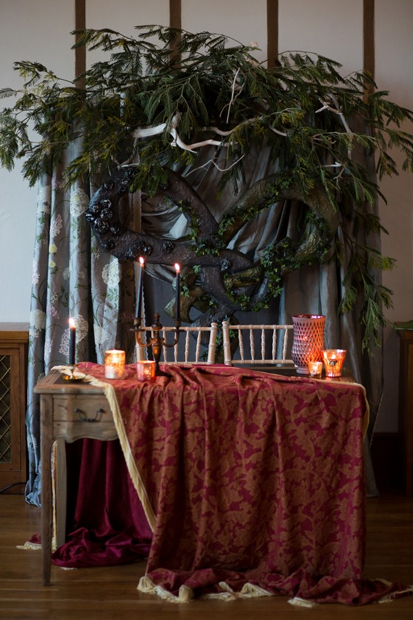 Styled wedding register table