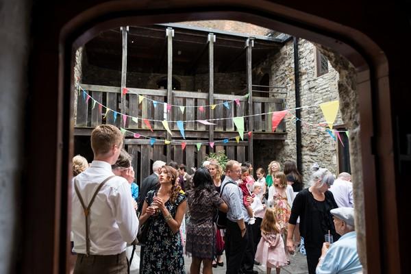 Wedding drinks reception at Scaplen's Court