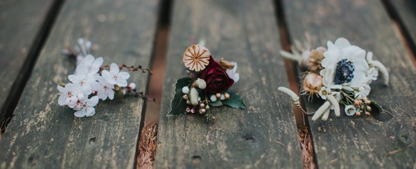 Three different buttonholes