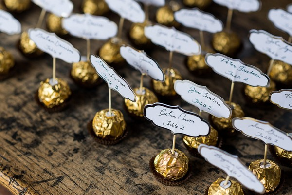 Ferrero Rocher wedding table plan