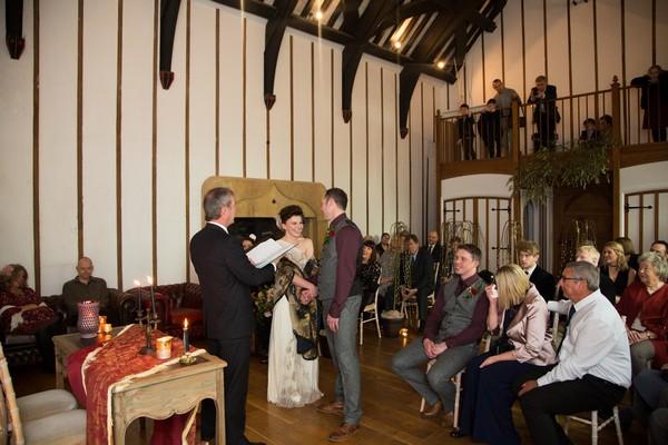 Bridwell chapel wedding ceremony