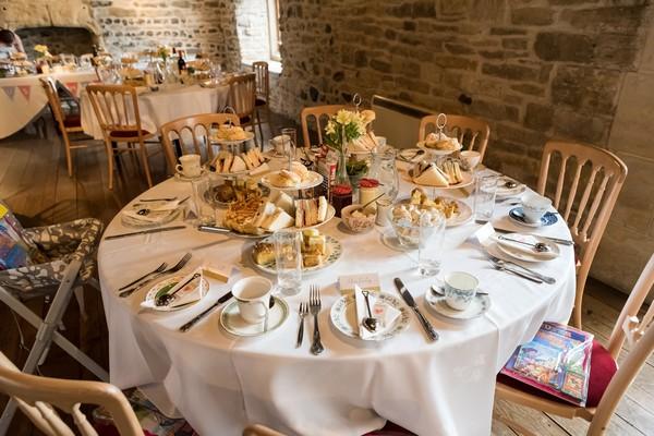 Table at Scaplen's Court wedding