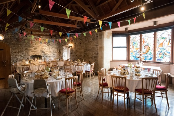 Wedding tables in Scaplen's Court