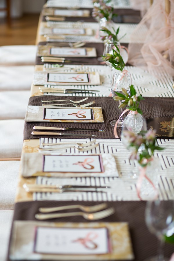Place settings with alternate styling