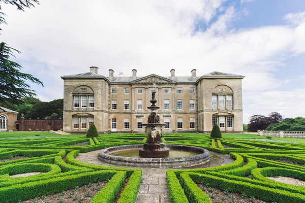 Sledmere House and fountain
