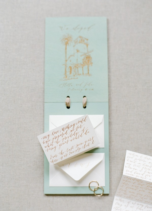 Vows on elopement stationery