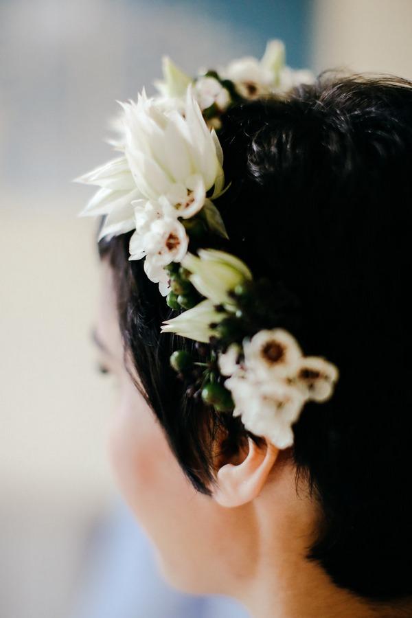 Bride's floral crown