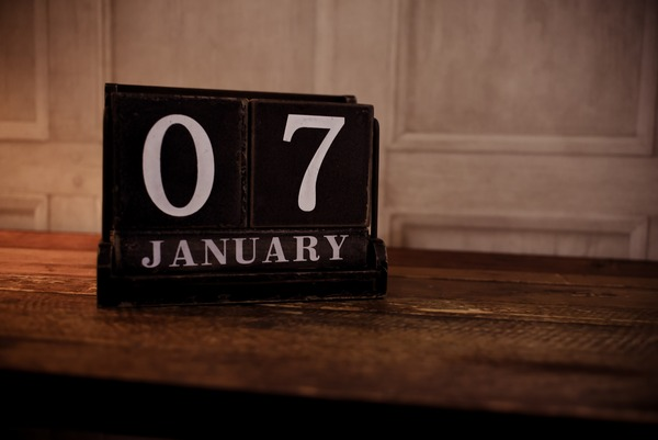 Calendar showing 7th January date