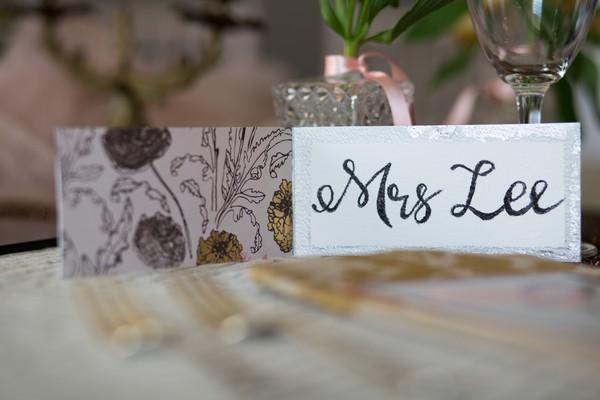 Wedding name place card