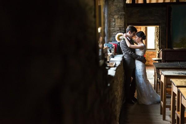 Bride and groom in Scaplen's Court