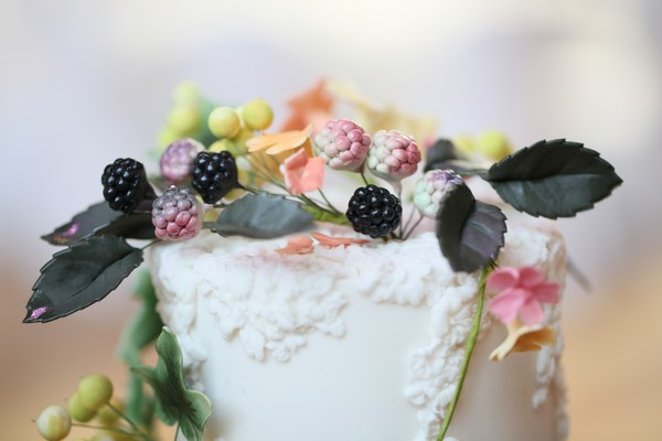 Sugar flower cake topper