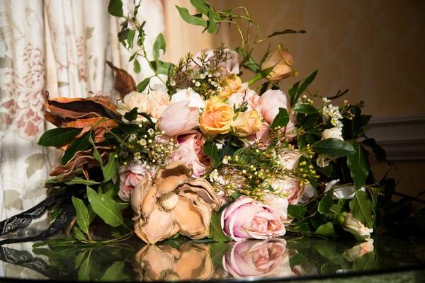 Wedding flowers on table