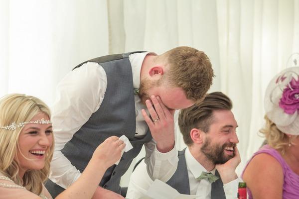 Emotional groom during speech