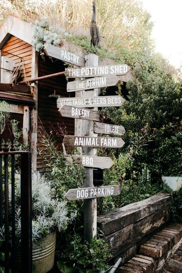 Wooden signs at The Grounds of Alexandria