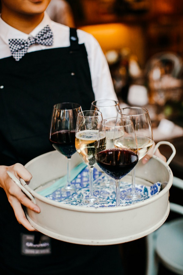 Tray of wine