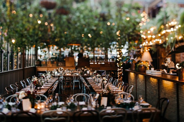 Wedding tables in The Grounds of Alexandria