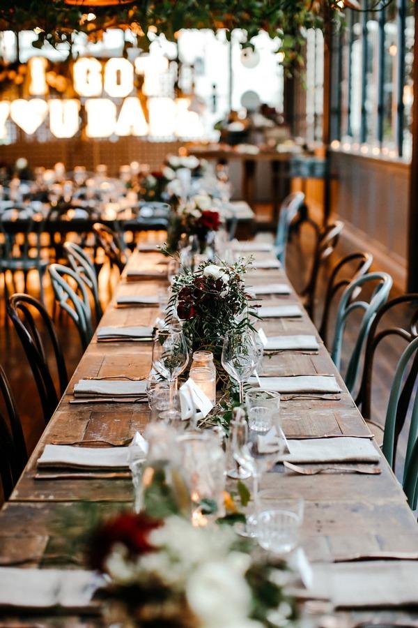 Long wedding table