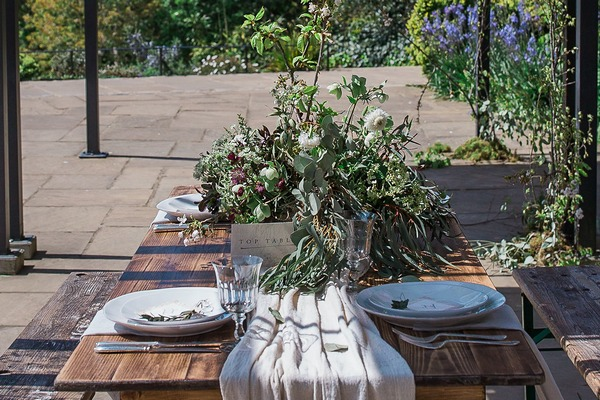 Wabi-sabi inspired wedding table styling