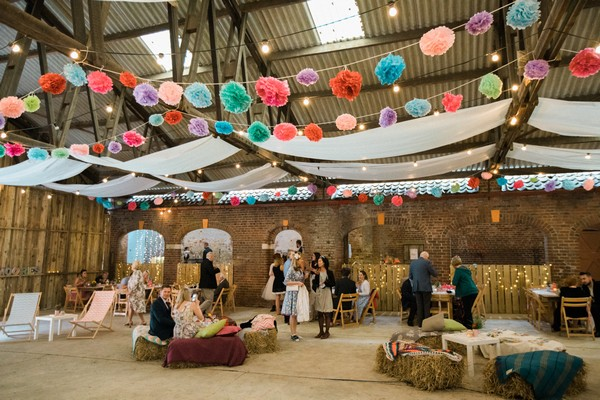 Wedding reception in the Barn at Home Farm Sledmere House