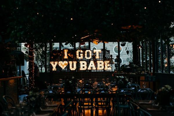 I Got Your Babe illuminated sign