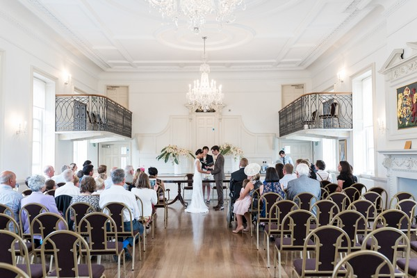 Wedding ceremony at Poole Guildhall