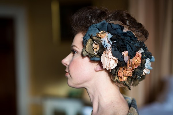 Unusual bridal headpiece