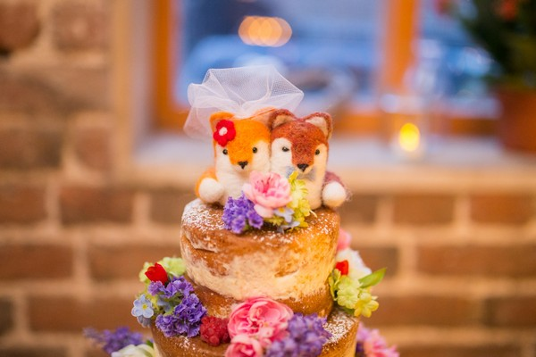 Small soft toy animal cake topper