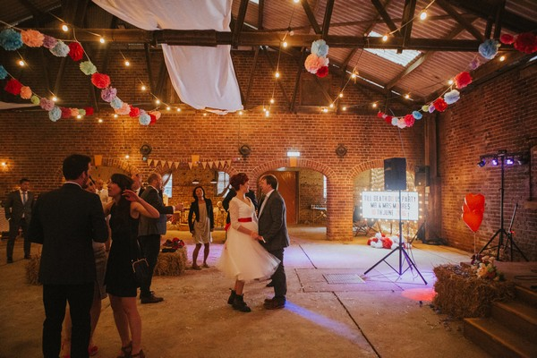 Bride and groom first dance at Sledmere House wedding
