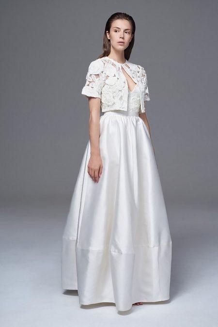 Alexa Skirt with Rosa Bolero Jacket from the Halfpenny London Wild Love 2017 Bridal Collection