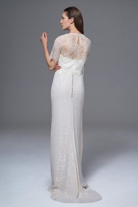 Back of Annabel Tee with Celine Sequinned Skirt and Iris Camisole from the Halfpenny London Wild Love 2017 Bridal Collection