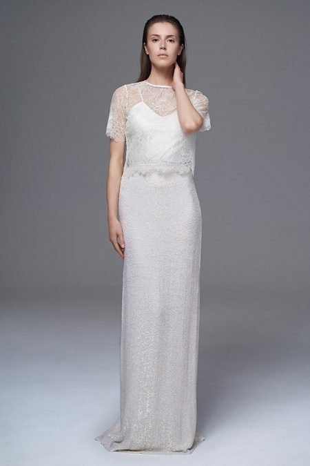 Annabel Tee with Celine Sequinned Skirt and Iris Camisole from the Halfpenny London Wild Love 2017 Bridal Collection