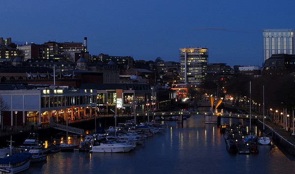 Bristol Centre at night
