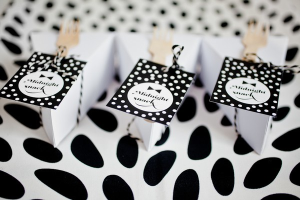 Cake Slice Boxes with Black and White Tags