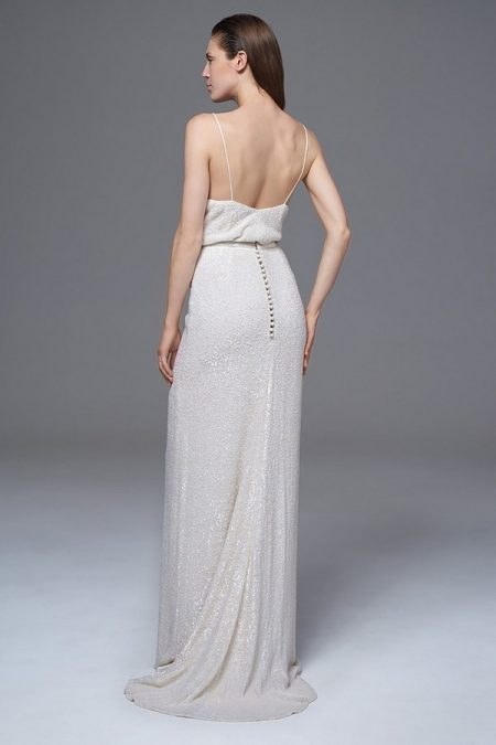 Back of Celine Sequinned Camisole and Skirt from the Halfpenny London Wild Love 2017 Bridal Collection