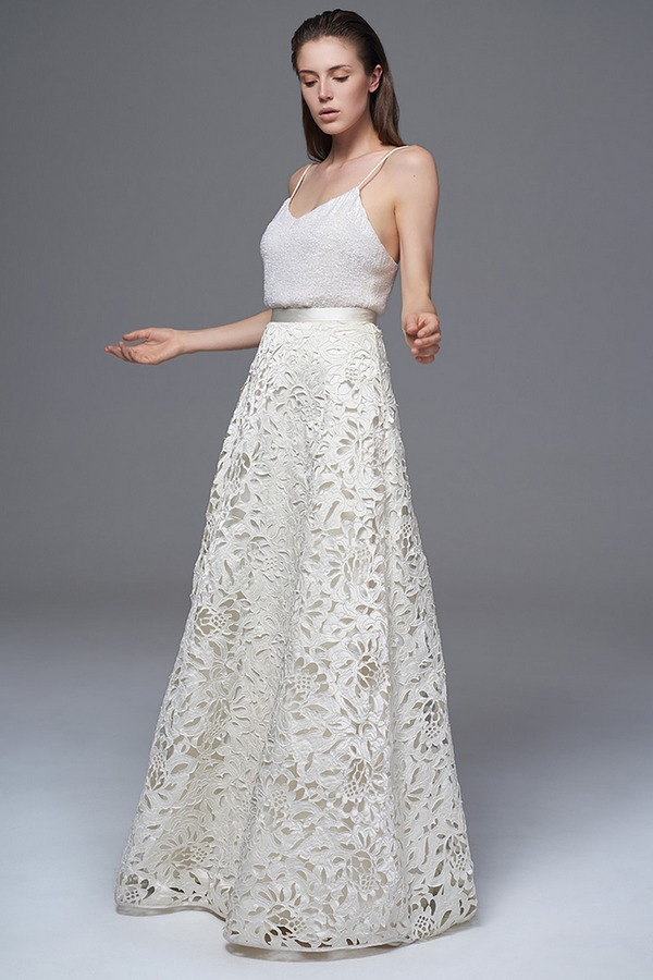 Celine Sequinned Camisole with Isobel Skirt from the Halfpenny London Wild Love 2017 Bridal Collection