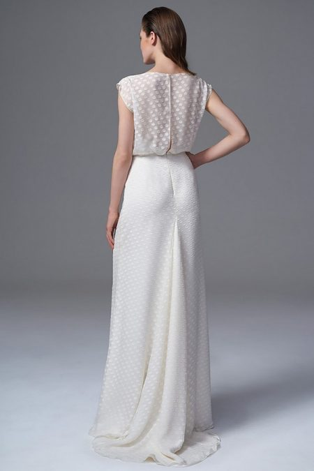 Back of Chloe Chiffon Wedding Dress from the Halfpenny London Wild Love 2017 Bridal Collection
