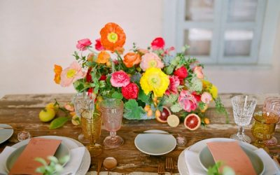 Bright, Colourful Elopement Inspiration