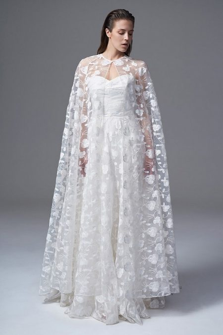 Esme Bridal Cape from the Halfpenny London Wild Love 2017 Bridal Collection