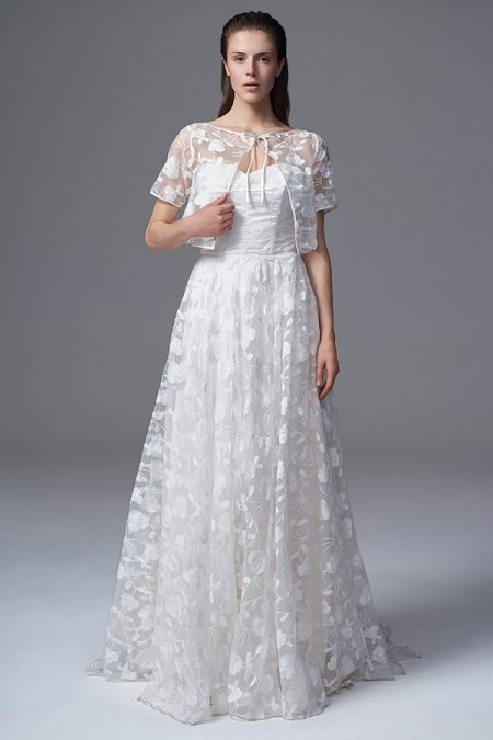 Esme Wedding Dress with Esme Reversible Bolero Jacket from the Halfpenny London Wild Love 2017 Bridal Collection