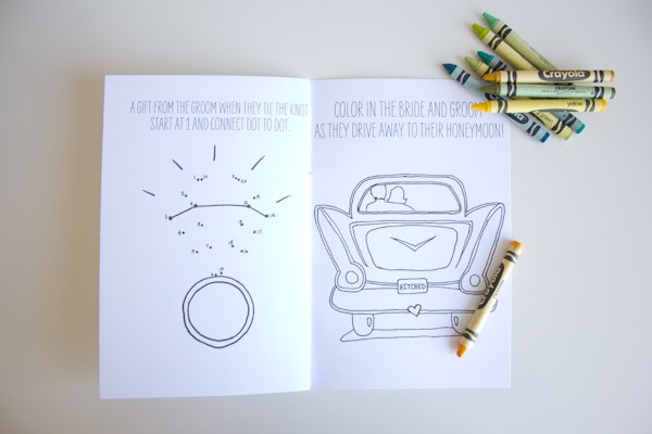 Dot to Dot in Free Printable DIY Children's Wedding Activity Book