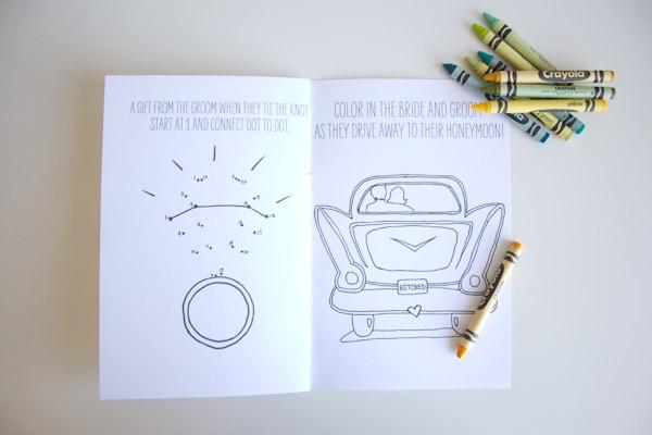 Free Printable DIY Children's Wedding Activity Book