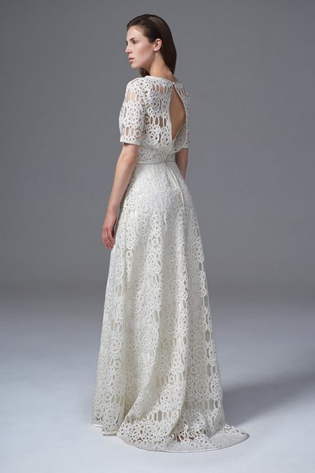 Back of Gina Bolero and Skirt from the Halfpenny London Wild Love 2017 Bridal Collection