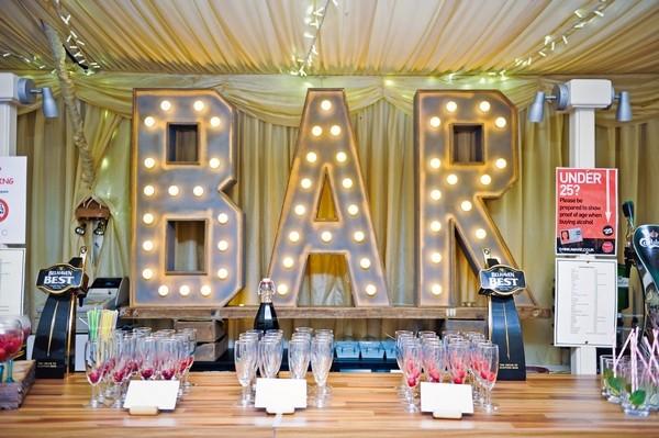 Illuminated BAR Letters