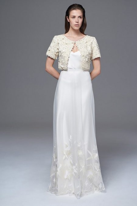 Isobel Jacket with Lily Skirt and Iris Slip from the Halfpenny London Wild Love 2017 Bridal Collection