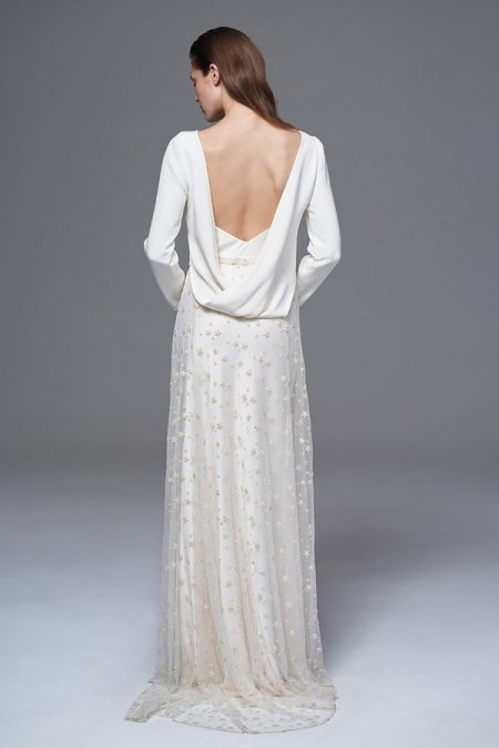Back of Laura Top with Star Skirt from the Halfpenny London Wild Love 2017 Bridal Collection