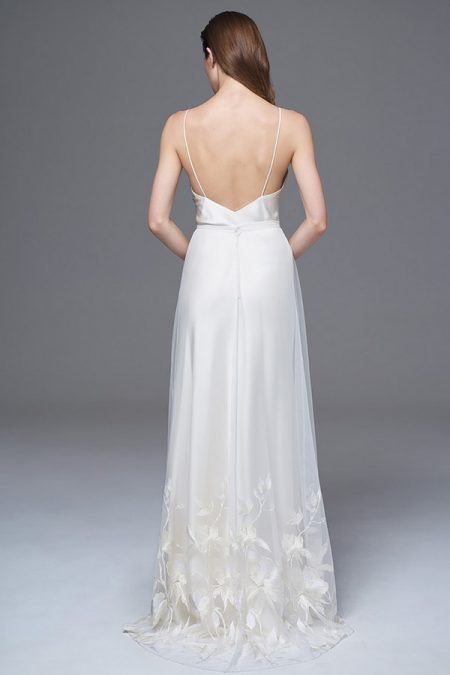 Back of Lily Skirt with Iris Slip from the Halfpenny London Wild Love 2017 Bridal Collection