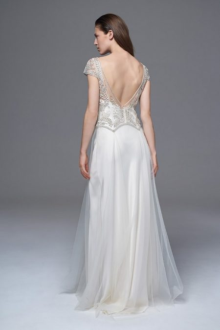 Back of Marianne Wedding Dress with Iris Slip from the Halfpenny London Wild Love 2017 Bridal Collection