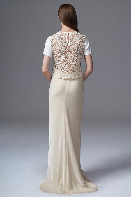 Back of Martha Tee with Celine Velvet Skirt from the Halfpenny London Wild Love 2017 Bridal Collection